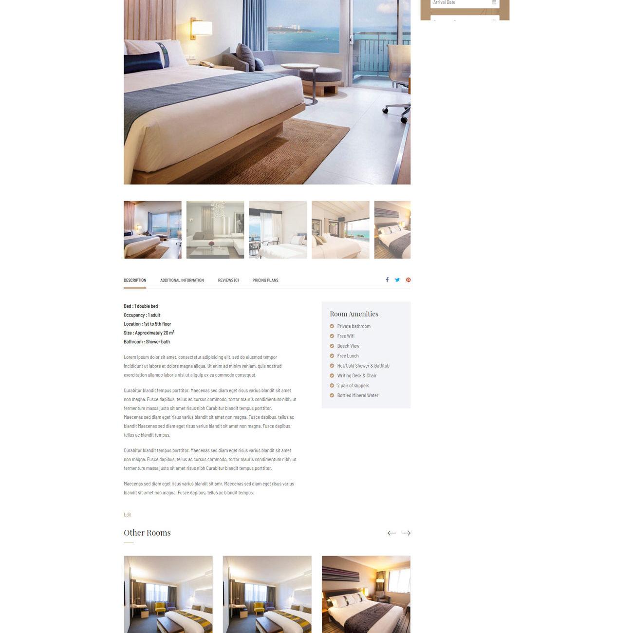 Сайт для отеля